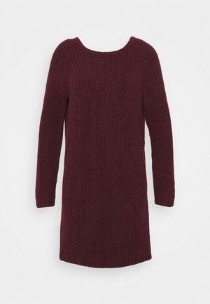 TWIST BACK DRESS - Jumper dress - royal berry