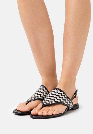 T-bar sandals - white/black