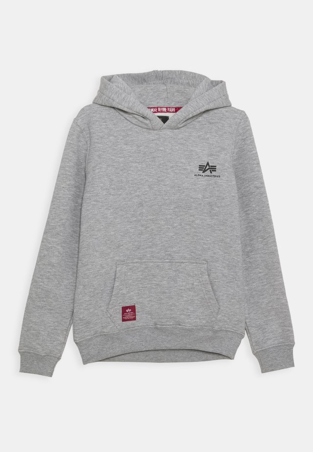 BASIC HOODY SMALL LOGO KIDS TEENS - Sweat à capuche - grey heather