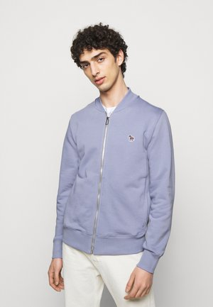 MENS ZIP BOMBER - Zip-up hoodie - blue/grey