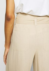 GAP - WIDE LEG SOLID - Trousers - wicker - 3