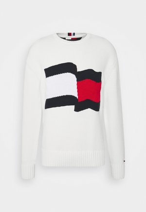 BIG GRAPHIC SWEATER - Pullover - ivory