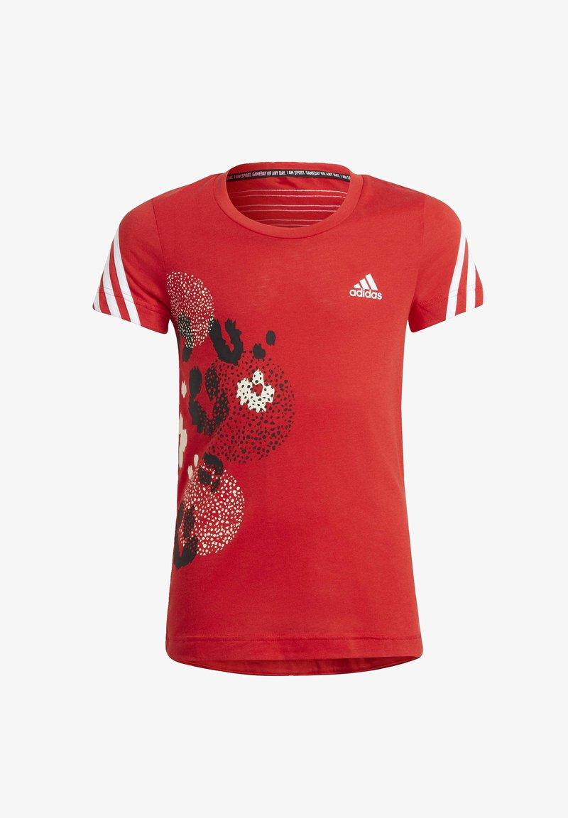 adidas Performance - Print T-shirt - red