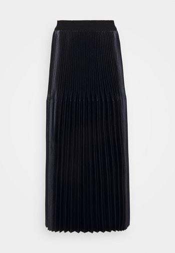BAULE - Pleated skirt - midnight blue