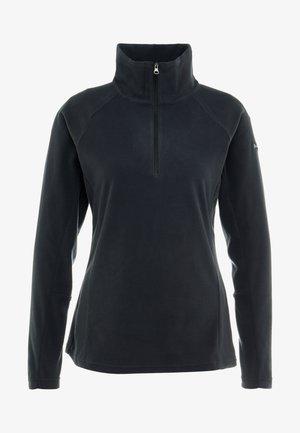 GLACIAL 1/2 ZIP - Fleece trui - black