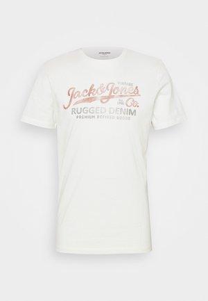 JPRBLUBOOSTER TEE - T-shirt z nadrukiem - cloud dancer