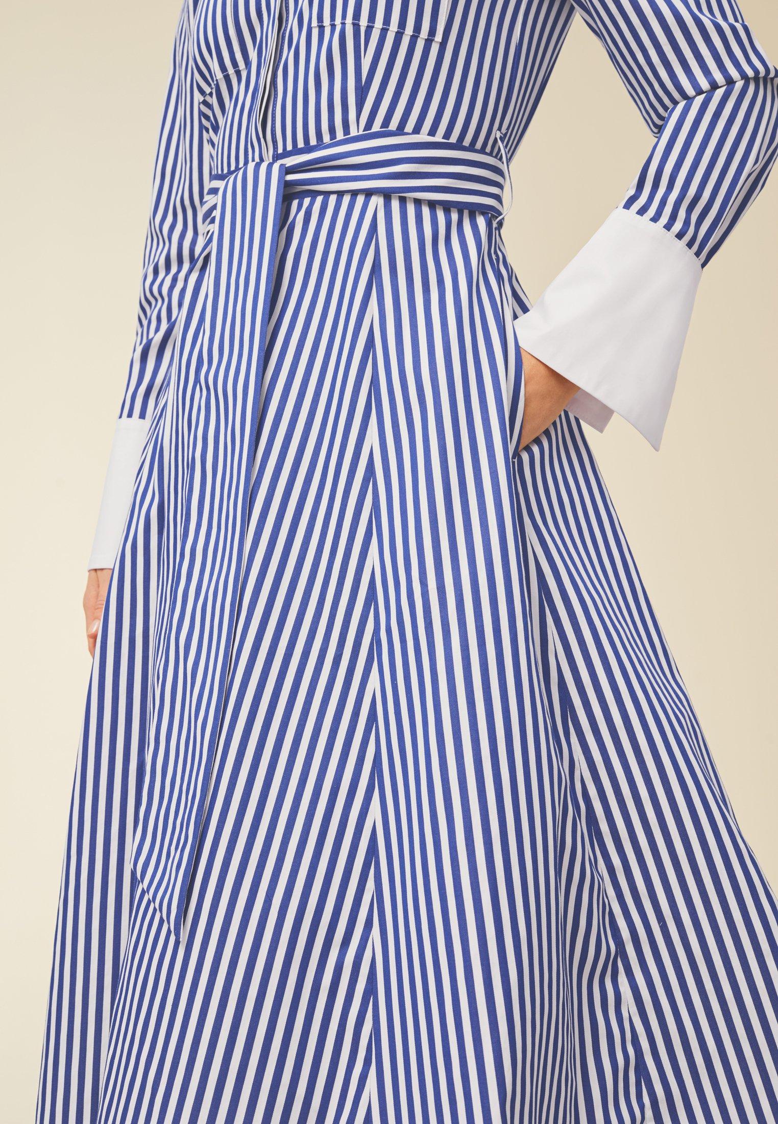 Popular Women's Clothing IVY & OAK Shirt dress stripe illuminate blue xsSl3TJLV
