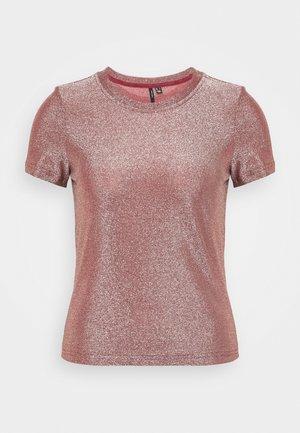 VMADALYN GLITTER - T-shirts med print - burnt russet/silver