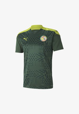 Print T-shirt - dark green-limepunch