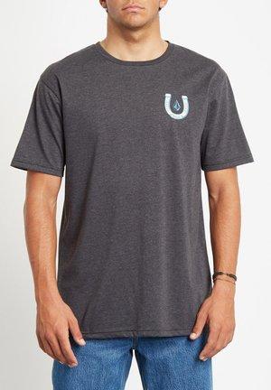 LUCKY YEW HTH SS - Camiseta estampada - heather black