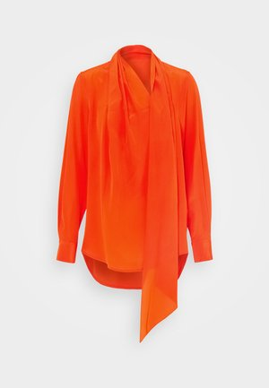 SCARF NECK BLOUSE - Blus - orange