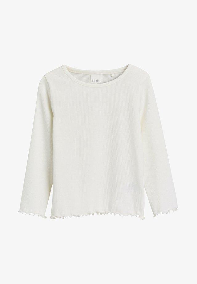 FLUTE - Long sleeved top - white