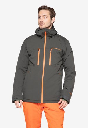 Snowboard jacket - dark green/orange