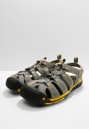 CLEARWATER CNX - Walking sandals - gargoyle/super lemon