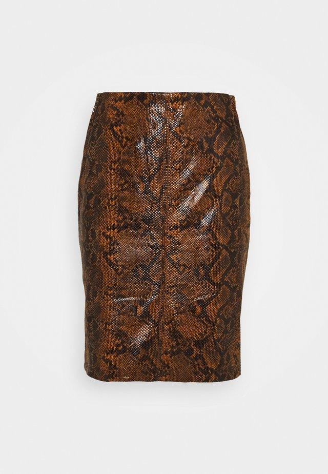 SKIRT SNAKE  - Blyantnederdel / pencil skirts - brown