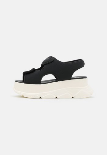 NEW SPICE WEDGE  - Platform sandals - black