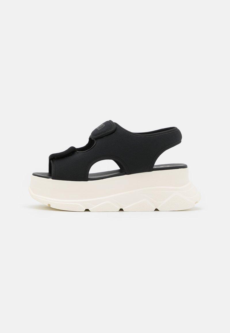 Joshua Sanders - NEW SPICE WEDGE  - Platform sandals - black