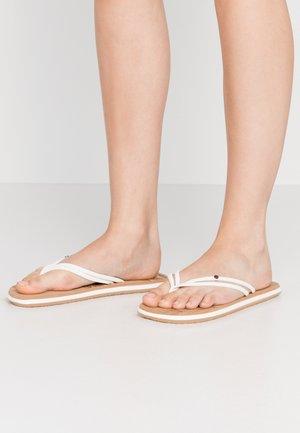DITSY - T-bar sandals - powder white