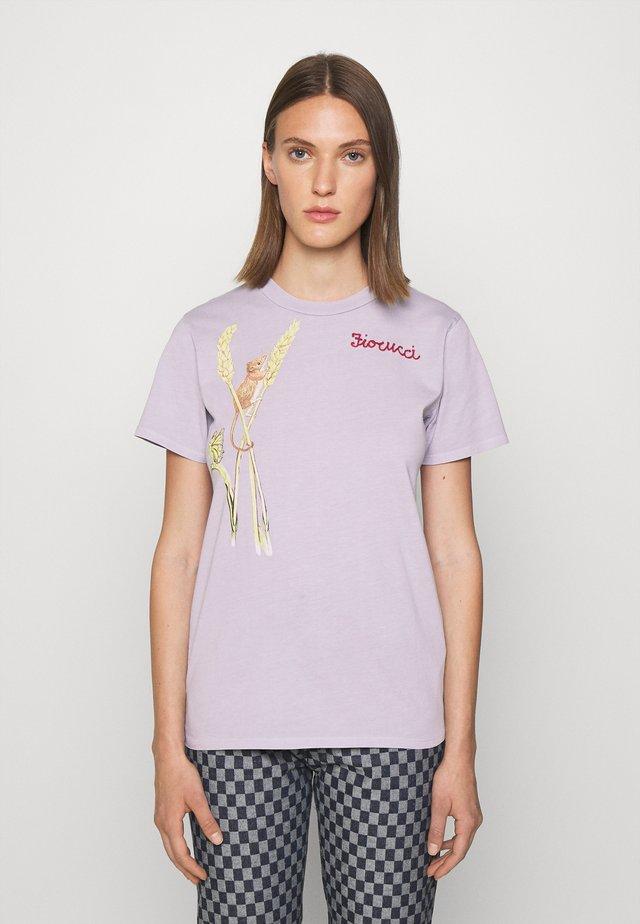 WOODLAND MOUSE FOXGLOVE - T-shirt print - lilac