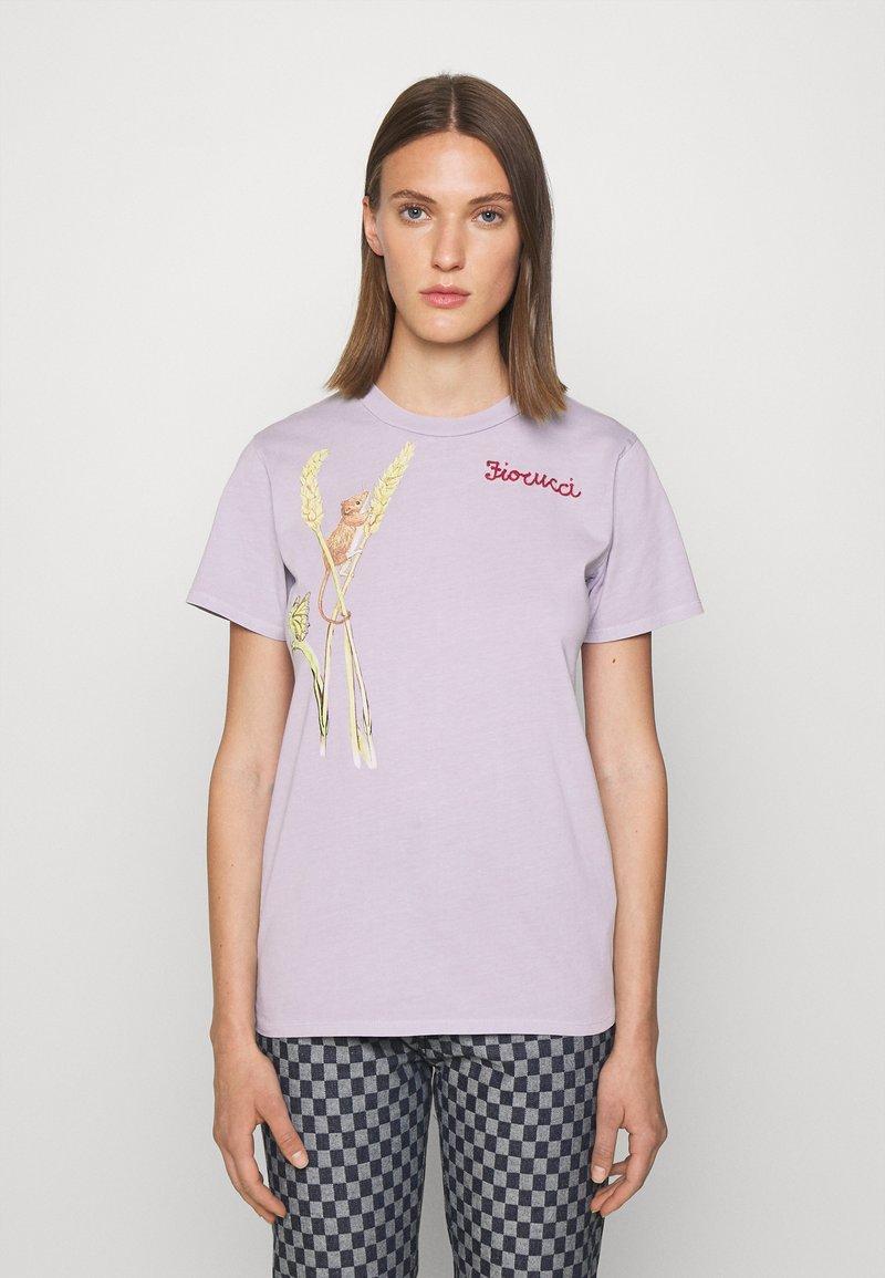 Fiorucci - WOODLAND MOUSE FOXGLOVE - Print T-shirt - lilac
