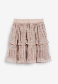 Next - SPARKLE TIERED - A-line skirt - pink - 2