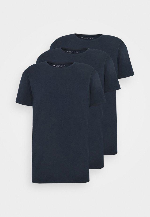 SLHNEWPIMA ONECK TEE 3 PACK  - Undertrøjer - navy blazer