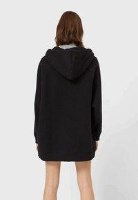 Stradivarius - Zip-up hoodie - black - 2