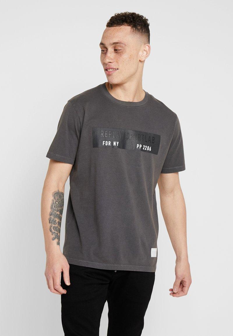 Replay Sportlab - T-shirts med print - black