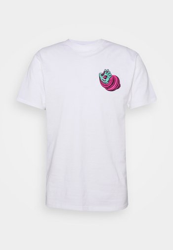 UNISEX NO PATTERN SCREAMING HAND - Print T-shirt - white