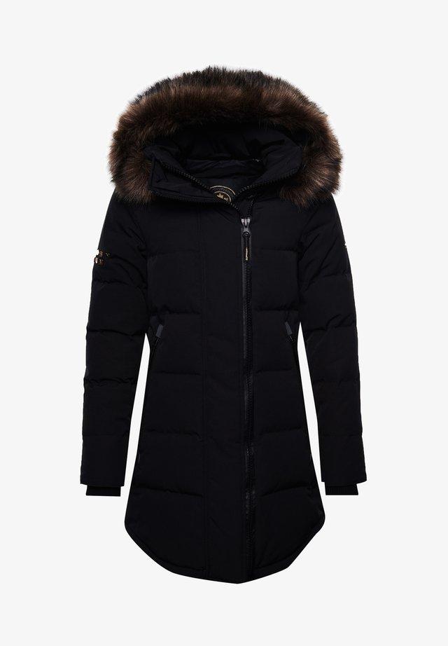 Winter coat - black/gold