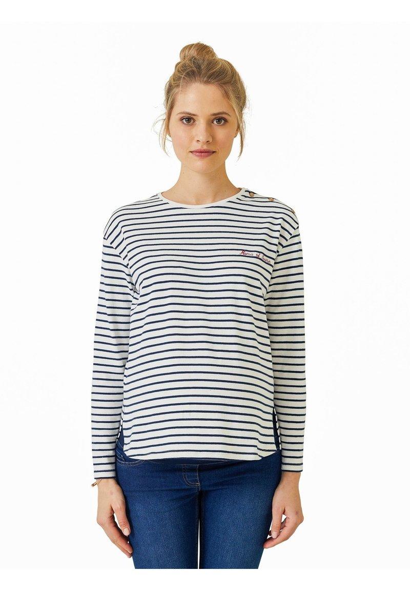 Vertbaudet - Long sleeved top - blau/weiß gestreift