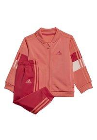 adidas Performance - FAVOURITES TRAINING SPORTS TRACKSUIT BABY SET - Tracksuit - red - 8