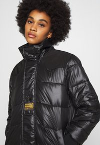 G-Star - EXTRA LONG HOODED PADDED PUFFER  - Winter coat - dk black - 5