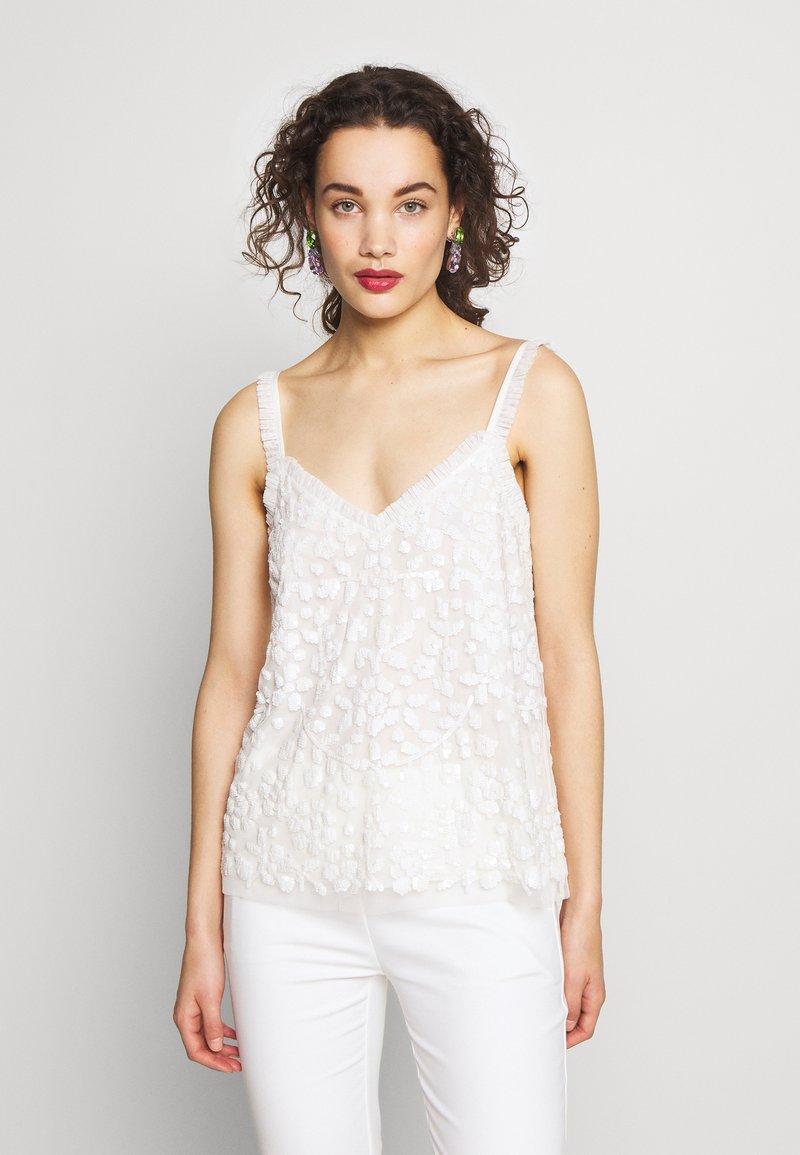 Needle & Thread - HONESTY FLOWER CAMI EXCLUSIVE - Top - moonstone white
