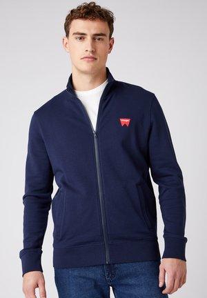 FUNNEL NECK ZIP SWS - Zip-up sweatshirt - navy