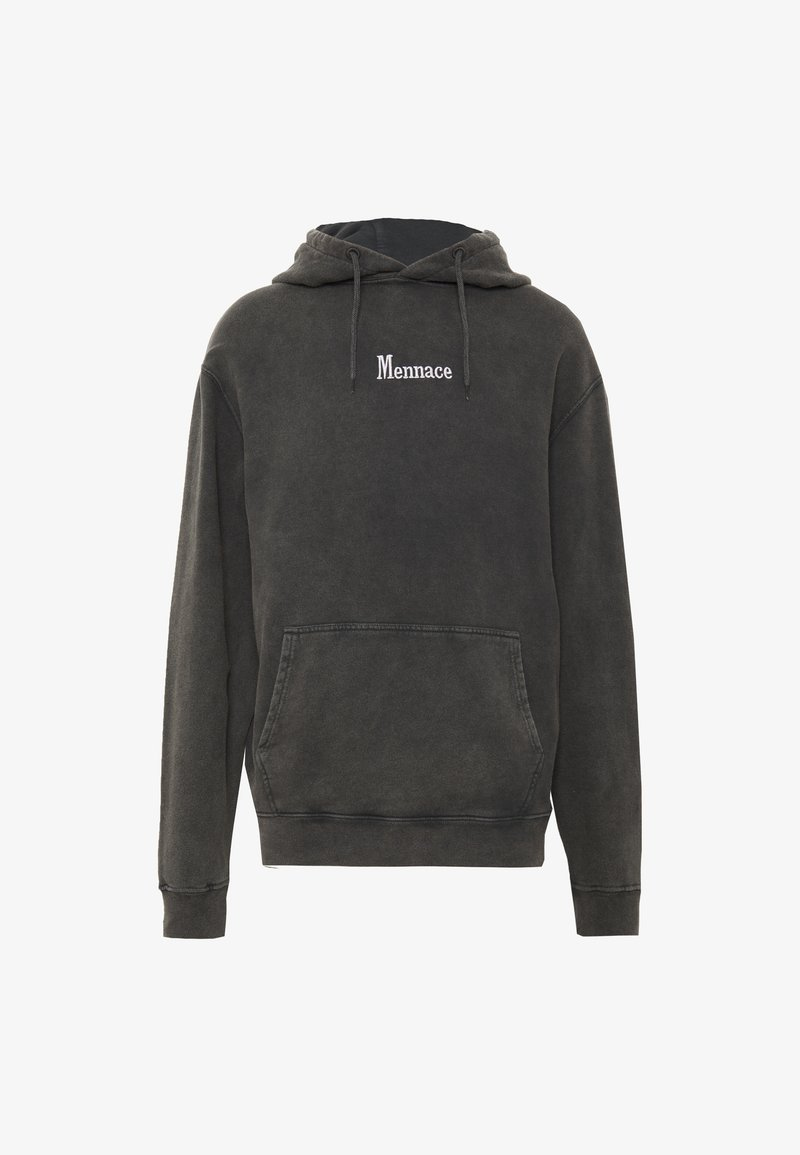 Mennace - WASHED PRIMARY - Sweat à capuche - black