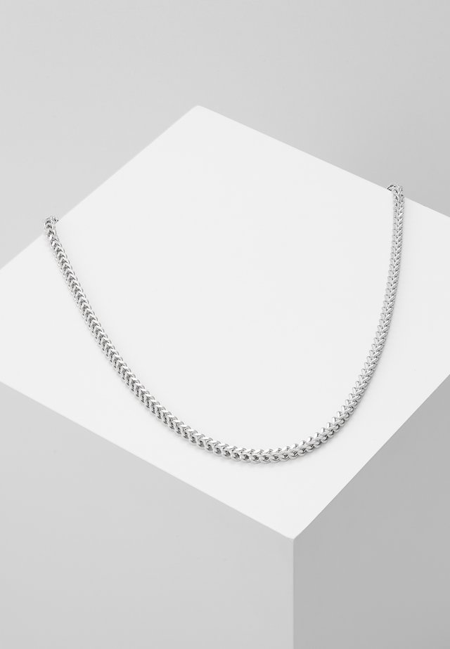 SQUARED CHAIN - Necklace - silver-coloured