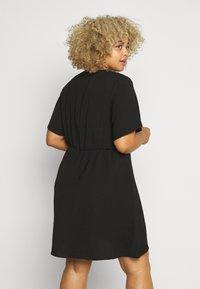 Simply Be - HERRINGBONE DRESS - Shirt dress - black - 0