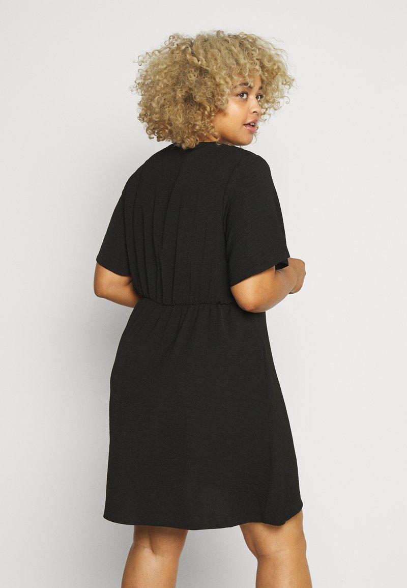 Simply Be - HERRINGBONE DRESS - Shirt dress - black