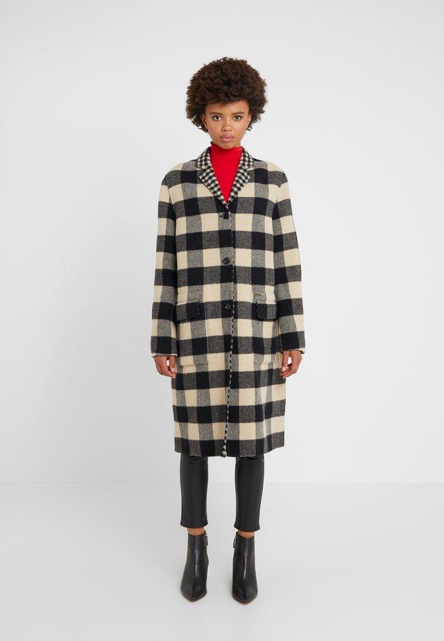 RONA COAT - Płaszcz wełniany /Płaszcz klasyczny - ivory/black