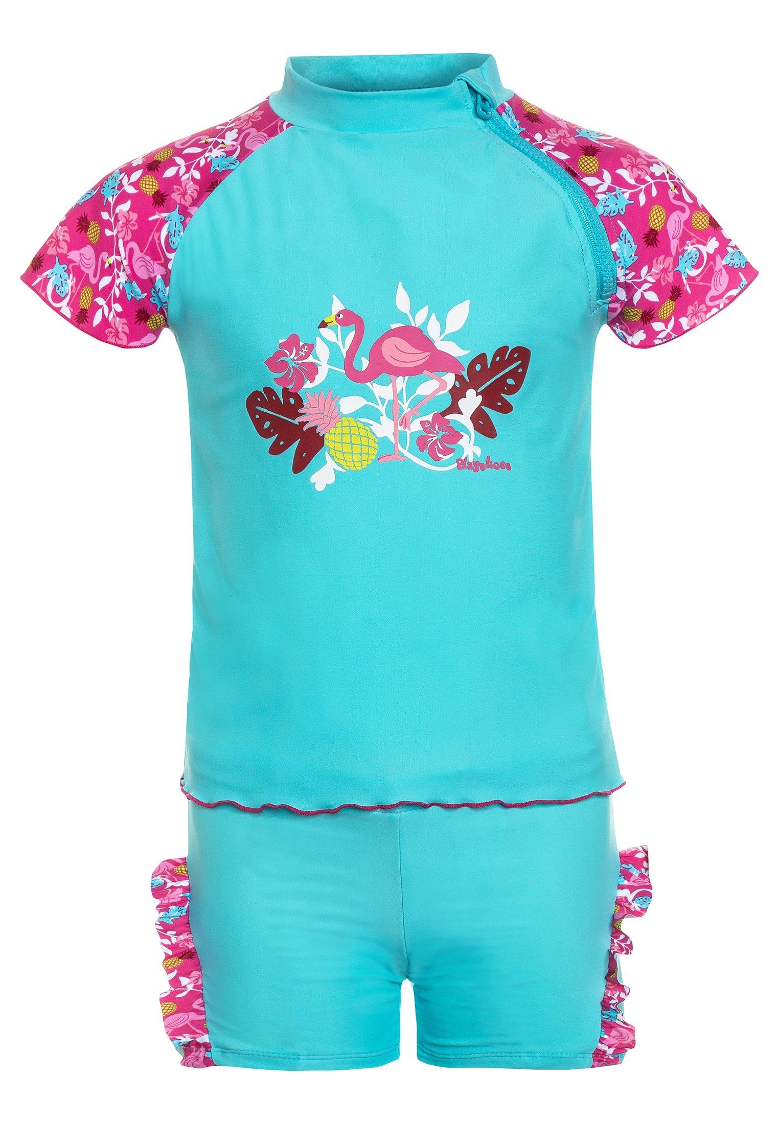 Kinder UV-SCHUTZ FLAMINGO SET - Badeanzug
