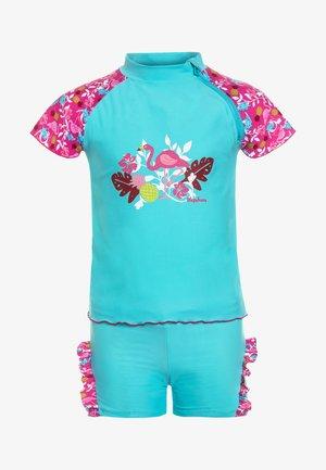 UV-SCHUTZ FLAMINGO SET - Swimsuit - türkis