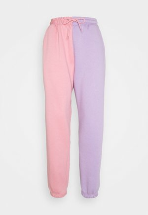 COLOUR BLOCK JOGGERS - Tracksuit bottoms - pink