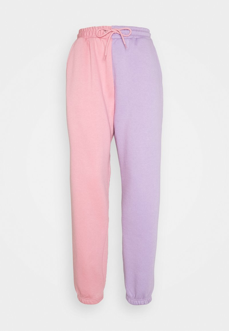 Missguided - COLOUR BLOCK JOGGERS - Tracksuit bottoms - pink