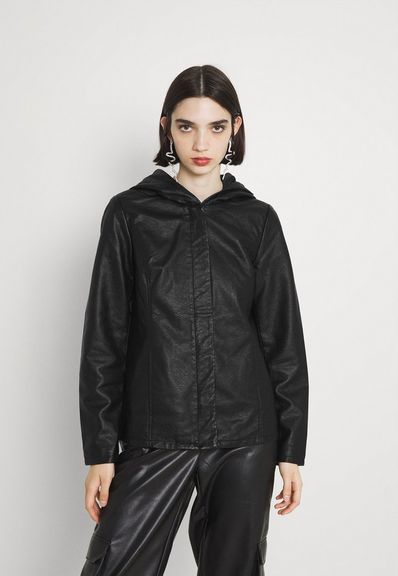 ONLY - ONLSEDONA - Faux leather jacket - black