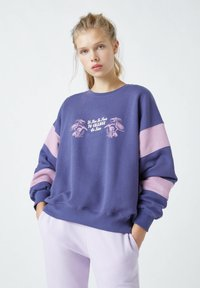 PULL&BEAR - Sweatshirt - mottled purple - 0