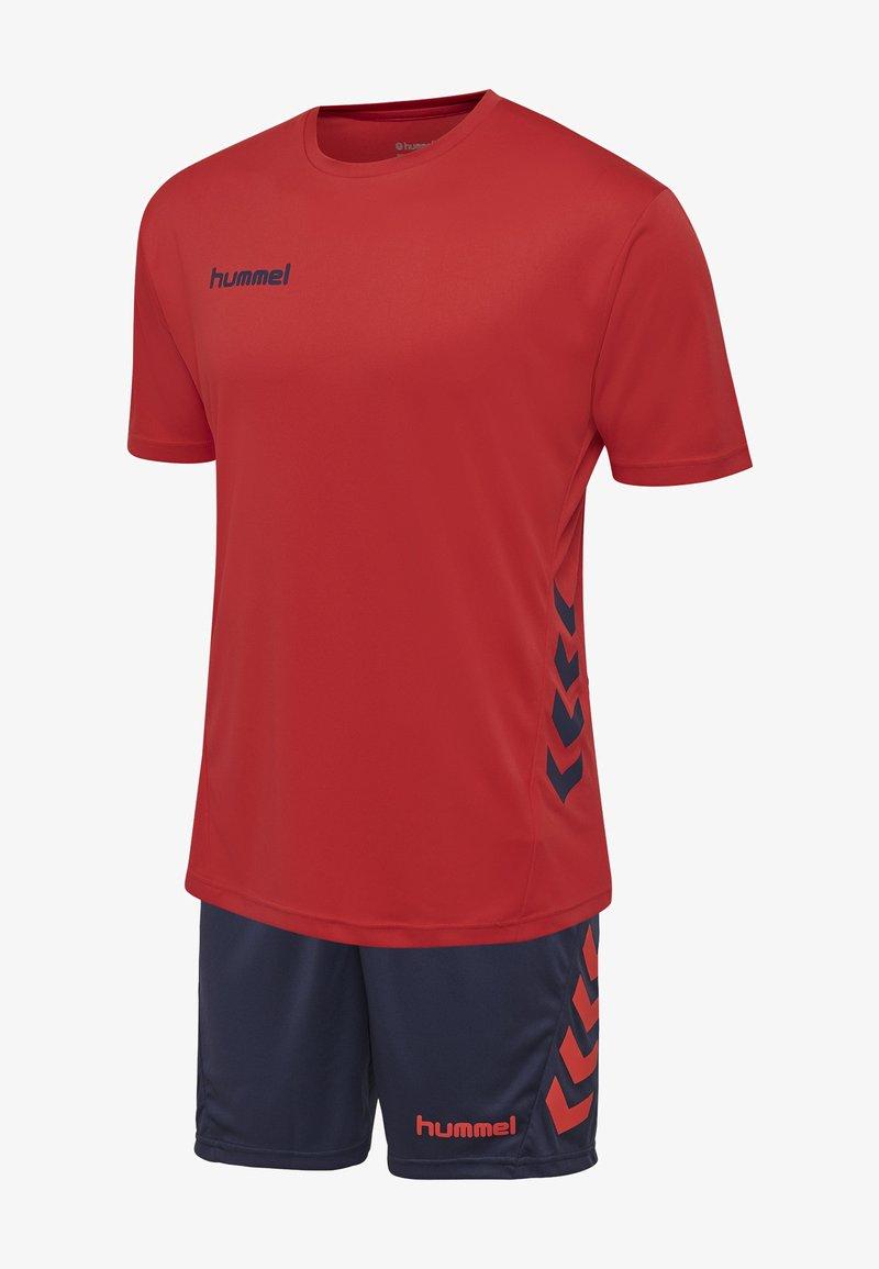 Hummel - DUO SET - Sports shorts - true red/marine