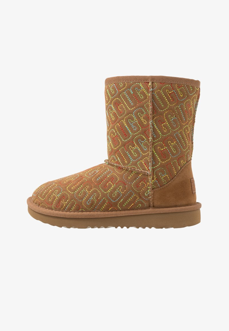 UGG - CLASSIC II GRAPHIC STITCH - Boots - chestnut