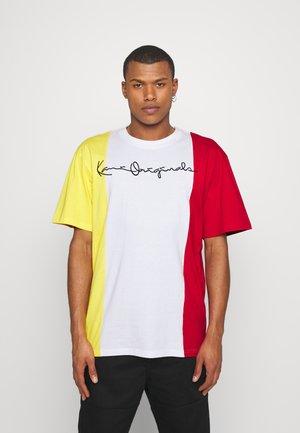 ORIGINALS BLOCK TEE - T-shirt imprimé - white