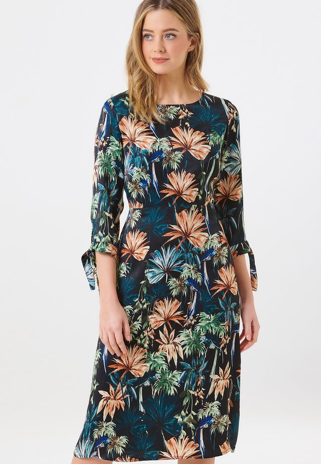 ADRIENNE SATIN FLORAL - Day dress - multi-coloured